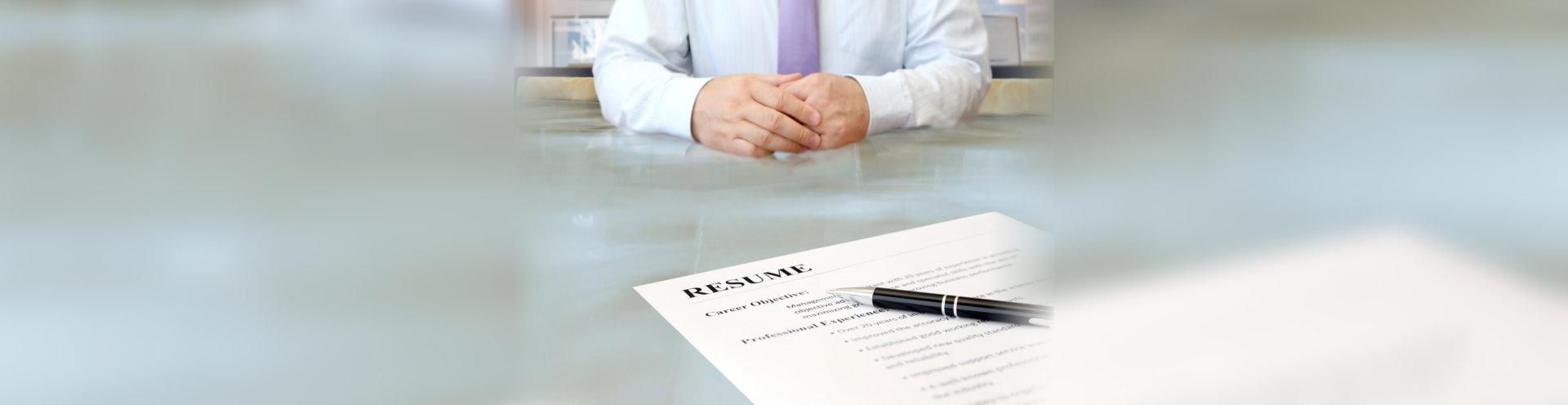 man applying for a job